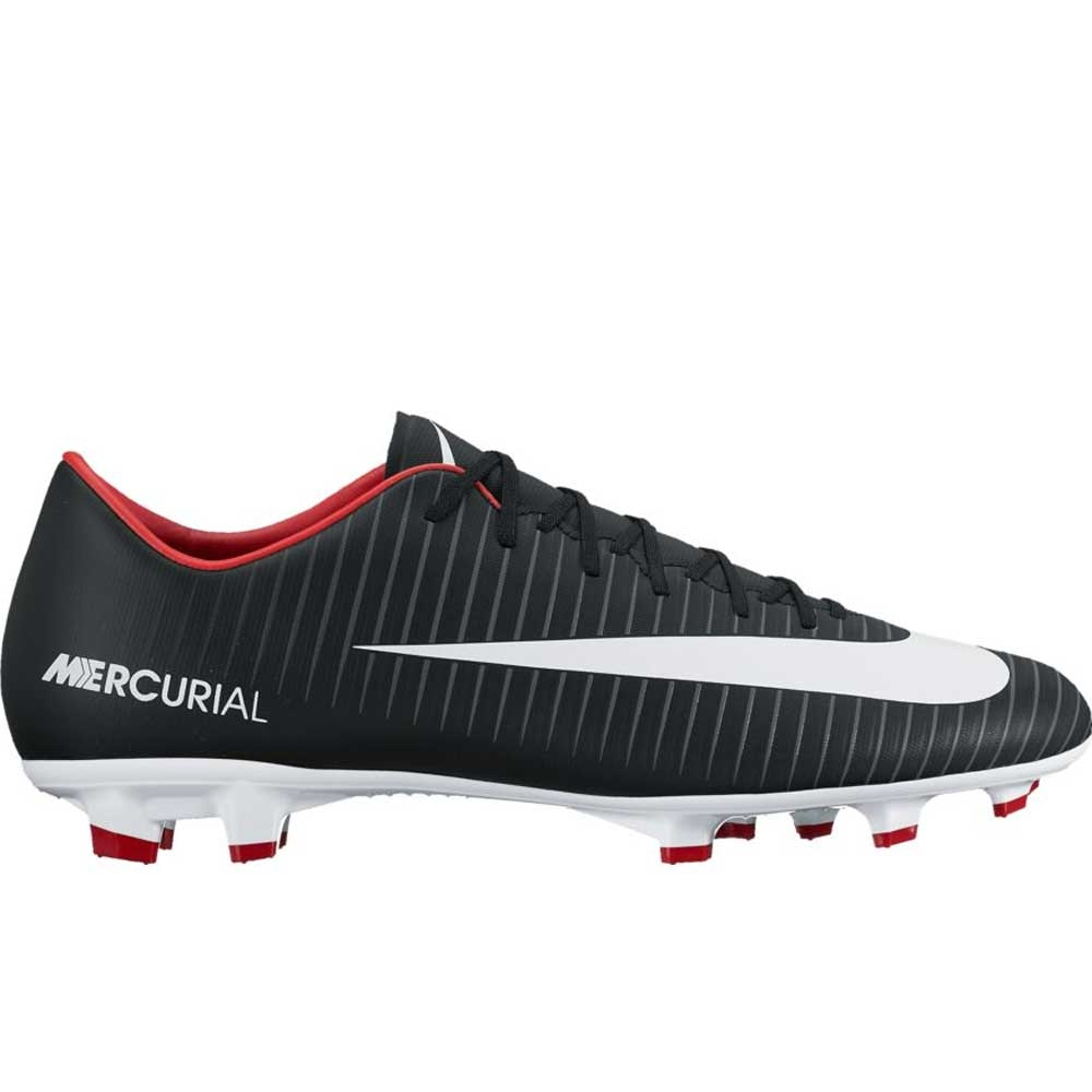 competitive price 105a4 68f0b Nike Mercurial Victory VI FG Soccer Cleats (Black/White/Dark  Grey/University Red)