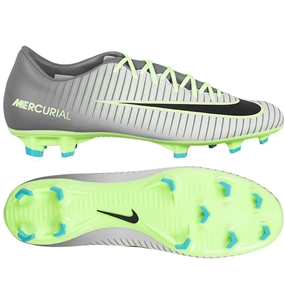 Nike Mercurial Victory VI FG Soccer Cleats (Pure Platinum/Black/Ghost Green)