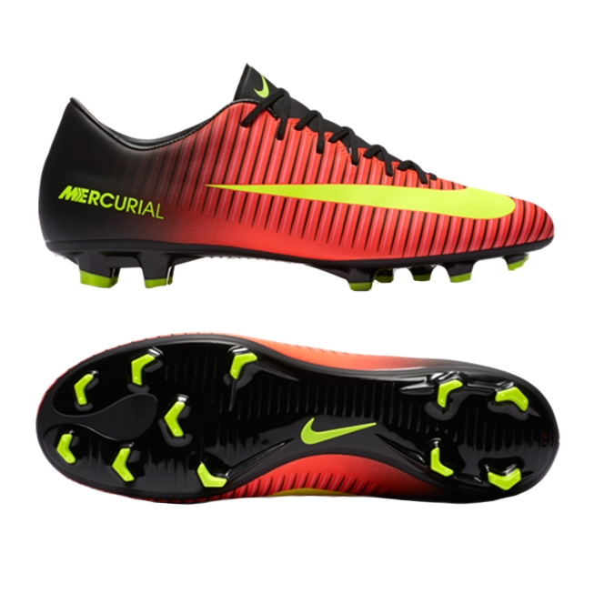 detailed look 0f79a 40ec6 Nike Mercurial Victory VI FG Soccer Cleats (Total Crimson/Volt/Black/Pink  Blast)