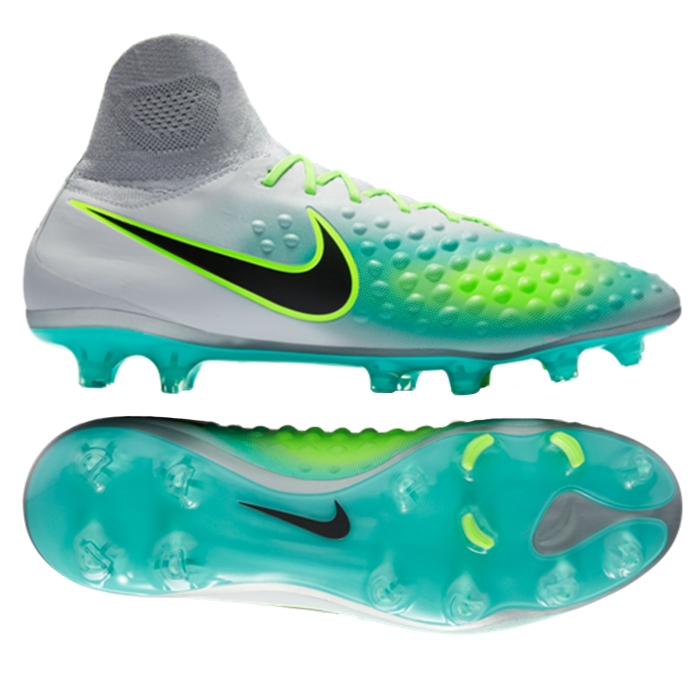 Nike Magista Orden II FG Soccer Cleats (Pure Platinum/Black/Ghost Green)