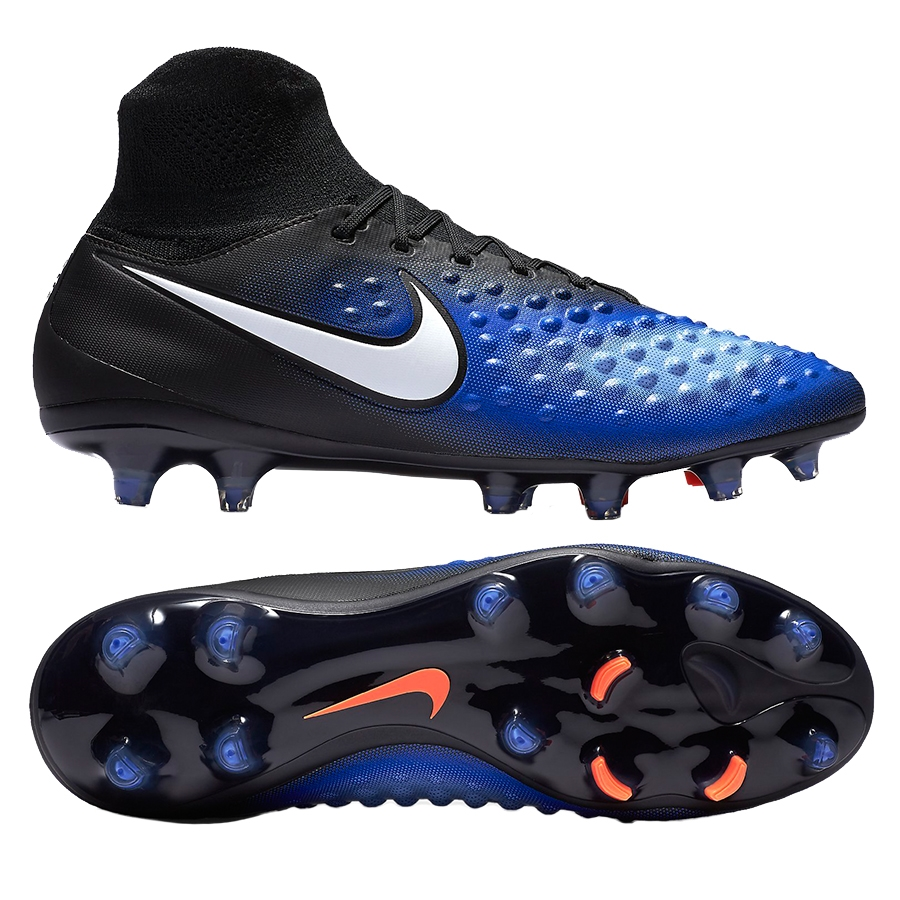ffec9d8bd Nike Magista Orden II FG Soccer Cleats (Black White Paramount Blue ...