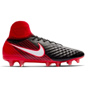 Nike Magista Orden II FG Soccer Cleats (Black/White/University Red)
