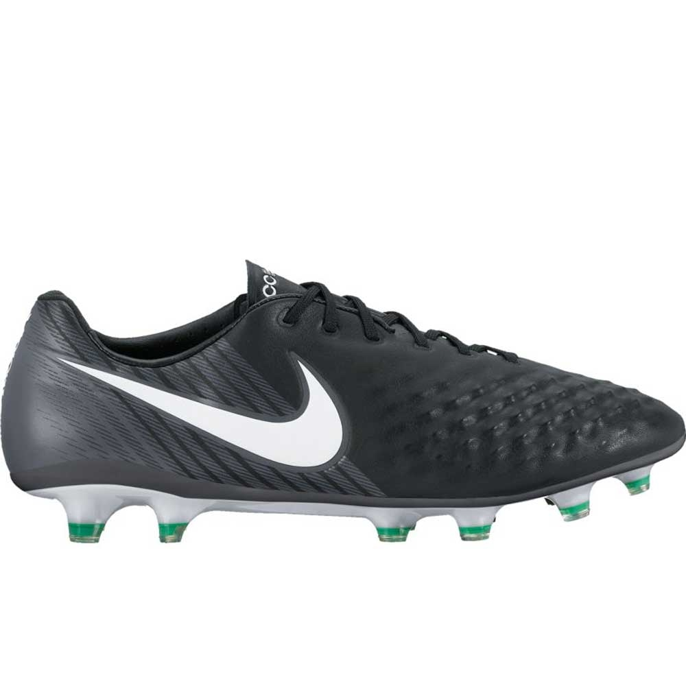 8b940da1543 Nike Magista Opus II FG Soccer Cleats (Black/White/Cool Grey/Stadium Green)