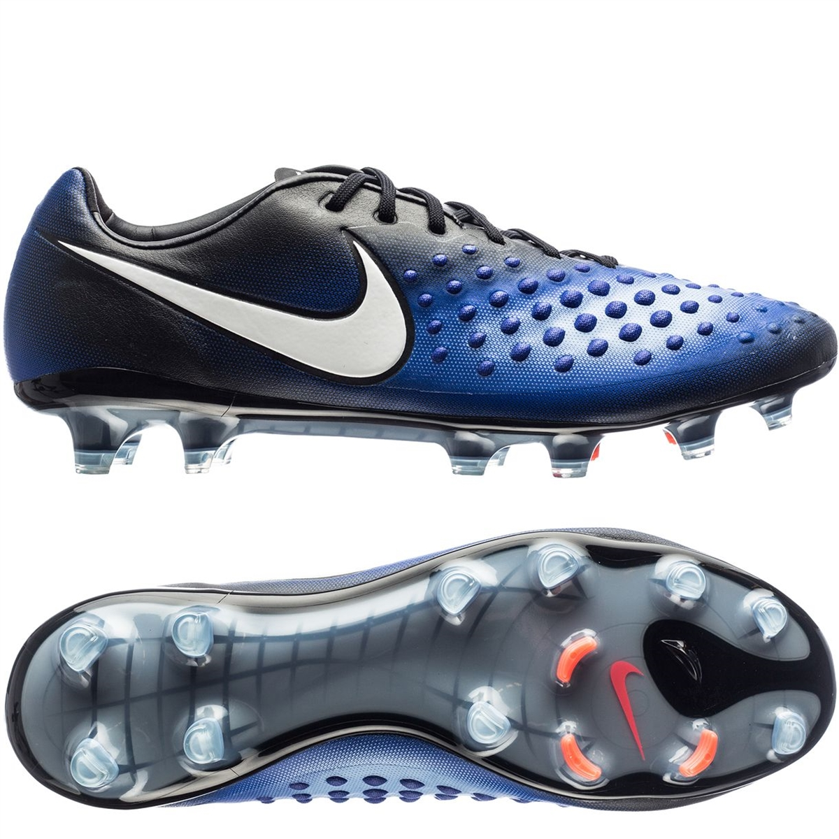 75ff9b99d25 Nike Magista Opus II FG Soccer Cleats (Black White Paramount Blue ...