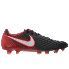 Nike Magista Opus II FG Soccer Cleats (Black/White/University Red)