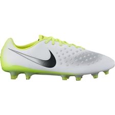Nike Magista Opus II FG Soccer Cleats (White/Black/Volt/Wolf Grey)