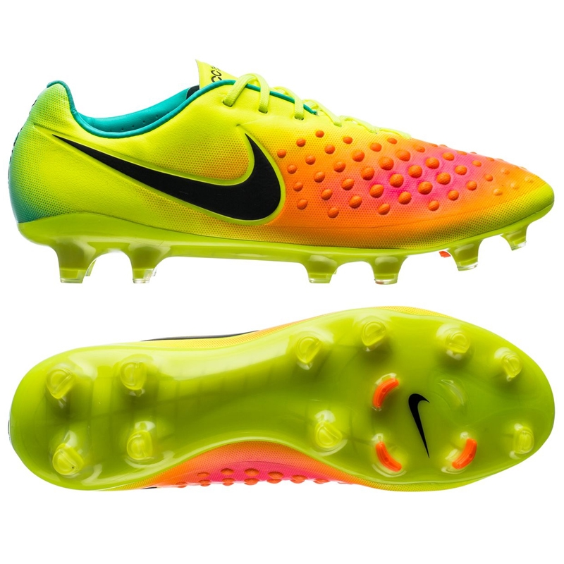 Nike Magista Opus II FG Soccer Cleats (Volt/Black/Total Orange/Pink Blast)