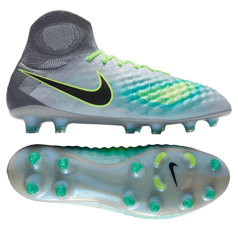 best sneakers 9311f 04e4b Nike Magista Obra II FG Soccer Cleats (Pure Platinum Black Ghost Green)    Nike 844595-003   Nike Magista Obra II  SOCCERCORNER.COM