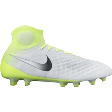 Nike Magista Obra II FG Soccer Cleats (White/Black/Volt/Pure Platinum)