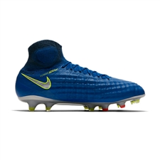 Nike Magista Obra II FG Soccer Cleats (Deep Royal Blue/Chrome/Total Crimson)