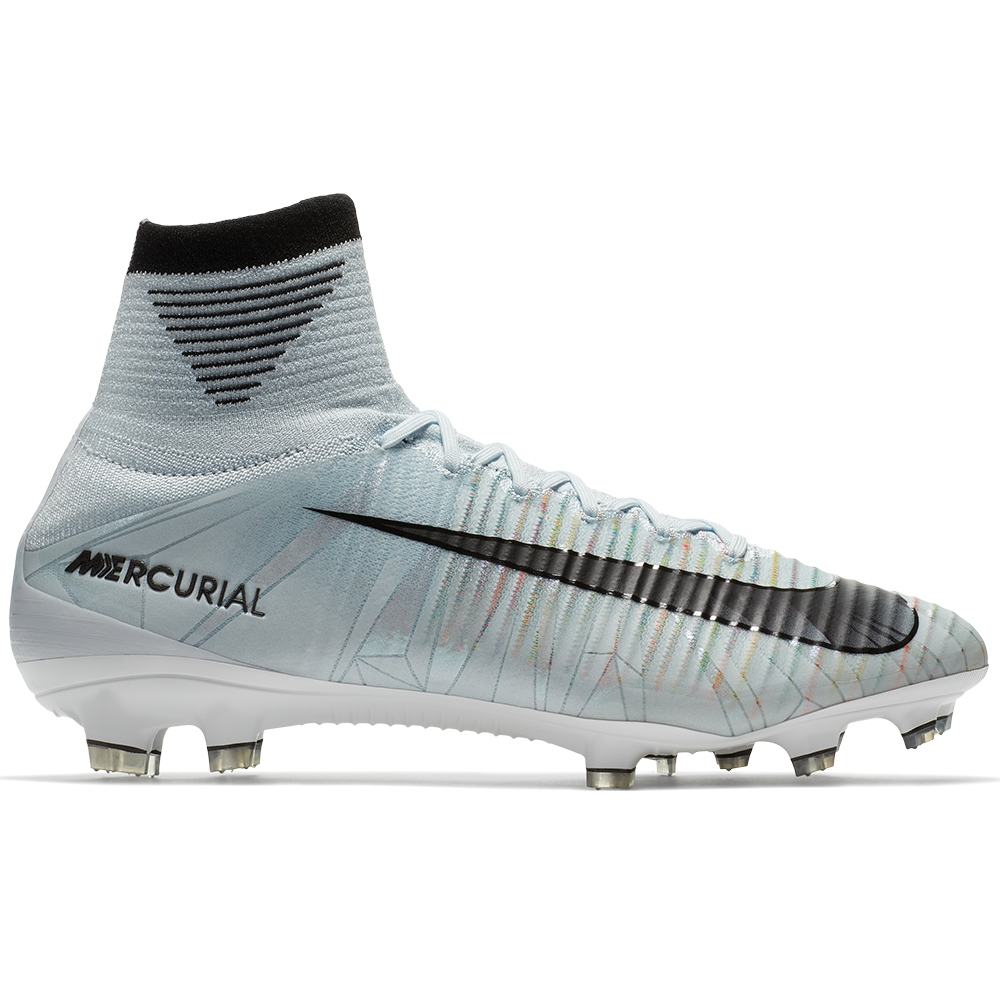 Nike Mercurial SuperFly V CR7 FG Soccer Cleats (Blue Tint/Black/White/