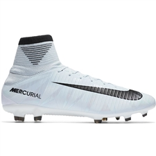 Nike Mercurial Veloce III DF CR7 FG Soccer Cleats (Blue Tint/Black/White)