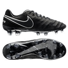 Nike Tiempo Legend VI Tech Craft 2.0 (Leather) FG Cleats (Black/Black)