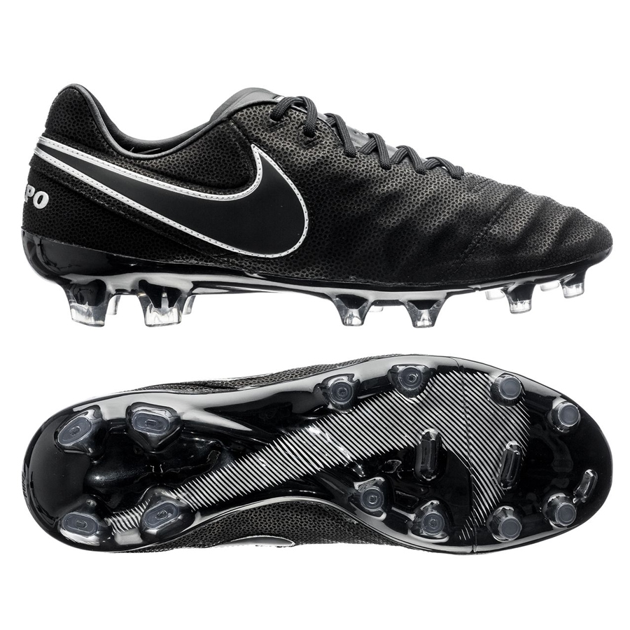 premium selection ccc6c e4b6f Nike Tiempo Legend VI Tech Craft 2.0 (Leather) FG Cleats (Black/Black)