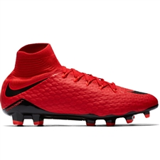 Nike Hypervenom Phatal III DF FG Soccer Cleats (University Red/Black/Bright Crimson)