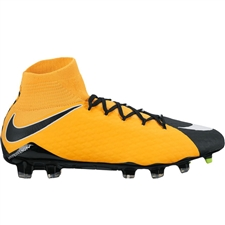 Nike Hypervenom Phatal III DF FG Soccer Cleats (Laser Orange/White/Black/Volt)