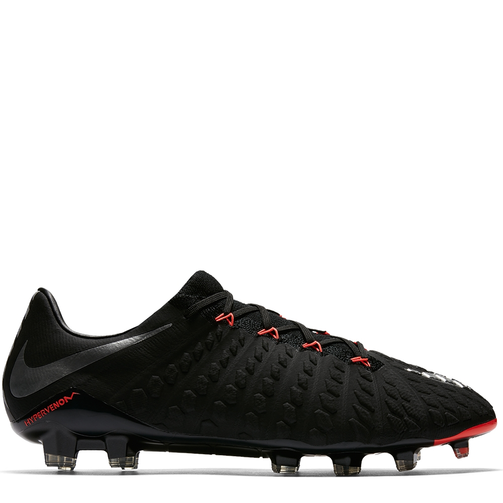 fb58f18750bc Nike Hypervenom Phantom III FG Soccer Cleats (Black Metallic Silver ...