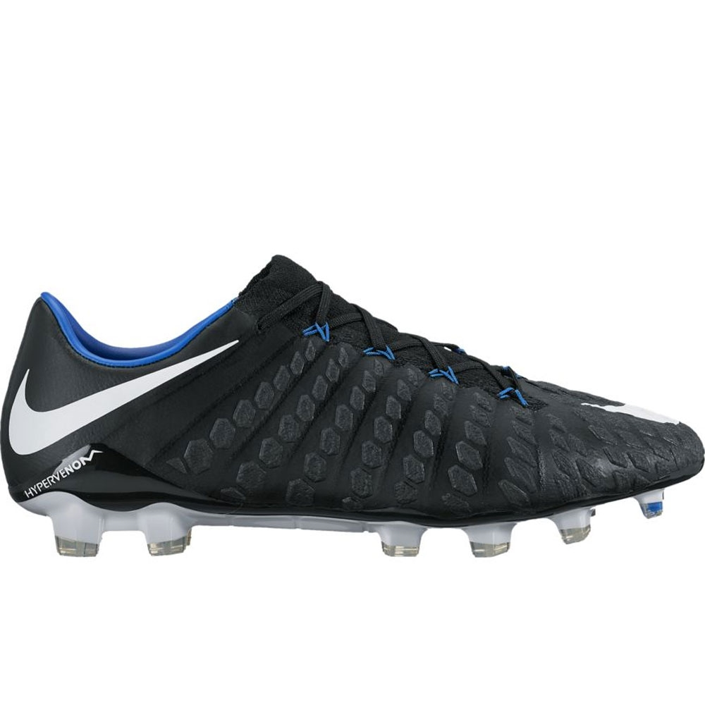 ce64cab5f05 Nike Hypervenom Phantom III FG Soccer Cleats (Black White Game Royal ...