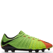 Nike Hypervenom Phantom III FG Soccer Cleats (Electric Green/Black/Hyper Orange/Volt)