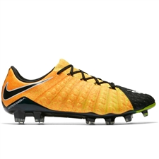 Nike Hypervenom Phantom III FG Soccer Cleats (Laser Orange/White/Black/Volt)