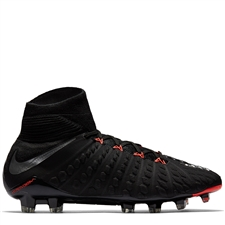 Nike Hypervenom Phantom III DF FG Soccer Cleats (Black/Metallic Silver/Anthracite)
