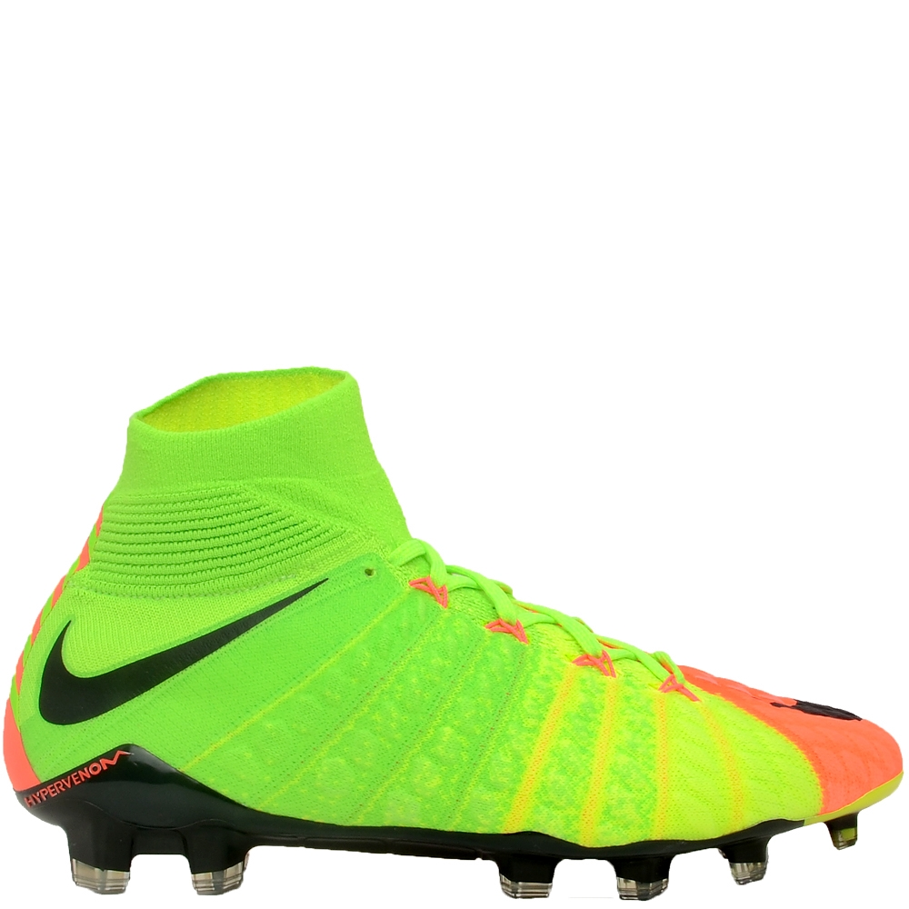 Nike Hypervenom Phantom III DF FG Soccer Cleats Electric Green Black Hyper  Orange