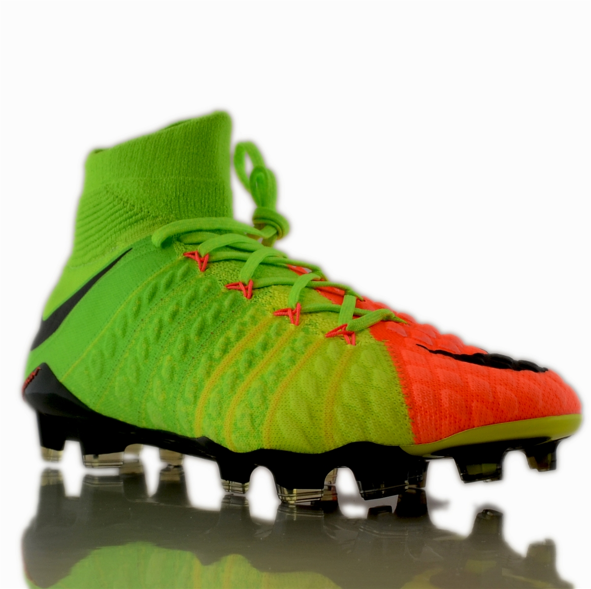 27d01a95e Nike Hypervenom Phantom III DF FG Soccer Cleats (Electric Green ...