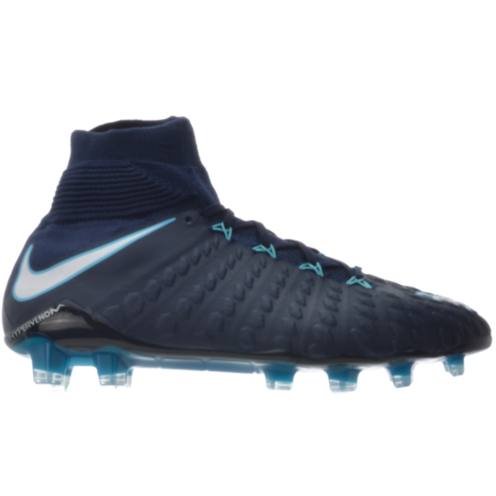 Nike Hypervenom Phantom III DF FG Soccer Cleats (ObsidianWhiteGamma Blue