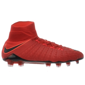 Nike Hypervenom Phantom III DF FG Soccer Cleats (University Red/Black/Bright Crimson)