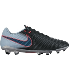 Nike Tiempo Ligera IV FG Soccer Cleats (Black/Armory Navy/Light Armory Blue)