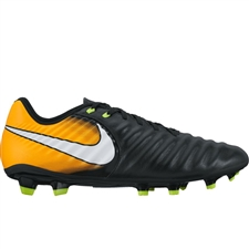 Nike Tiempo Ligera IV FG Soccer Cleats (Black/White/Laser Orange/Volt)