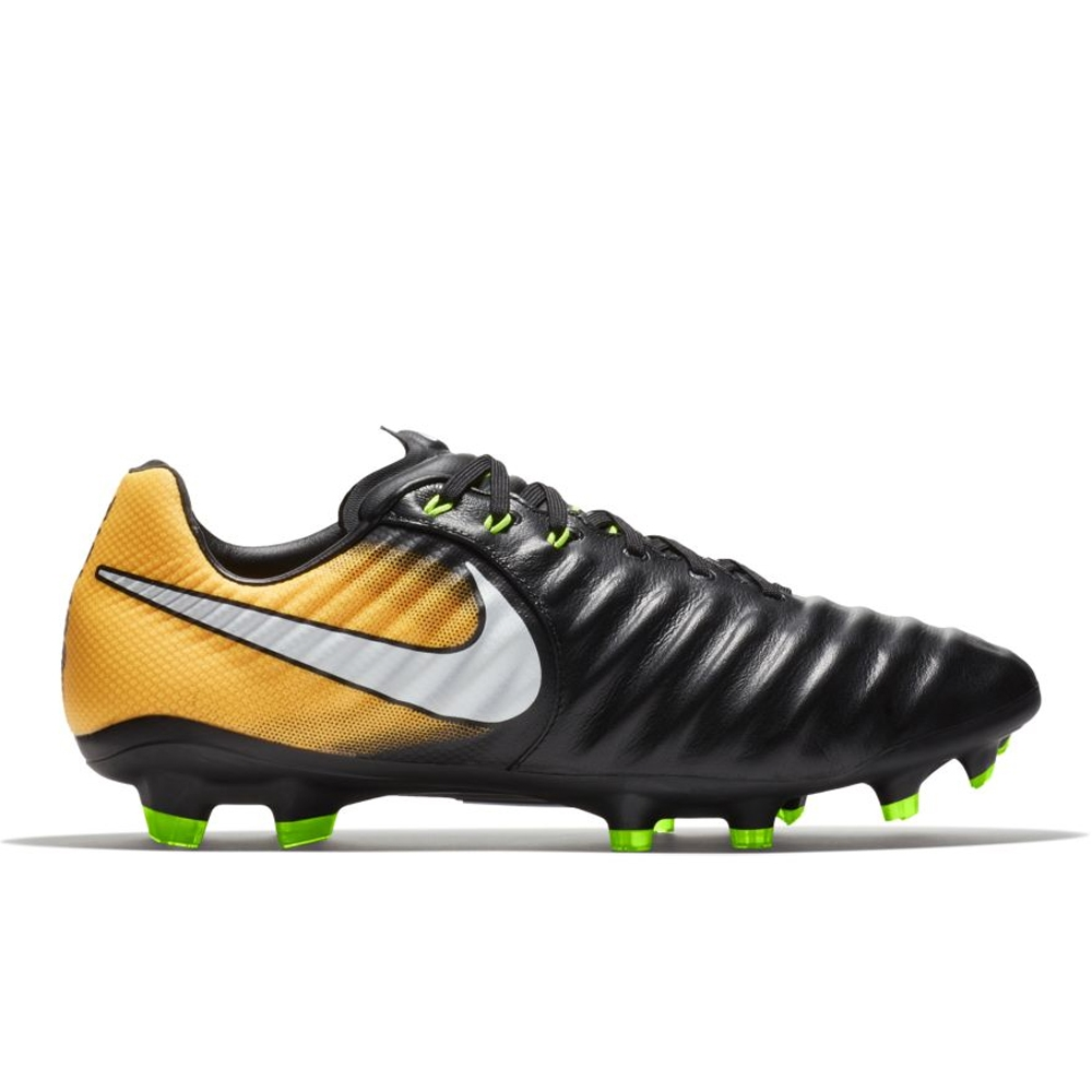 Nike Tiempo Legacy III FG Soccer Cleats (Black/White/Laser Orange/Volt
