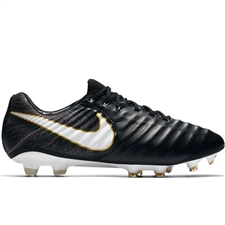 Nike Tiempo Legend VII FG Soccer Cleats (Black/White/Black)