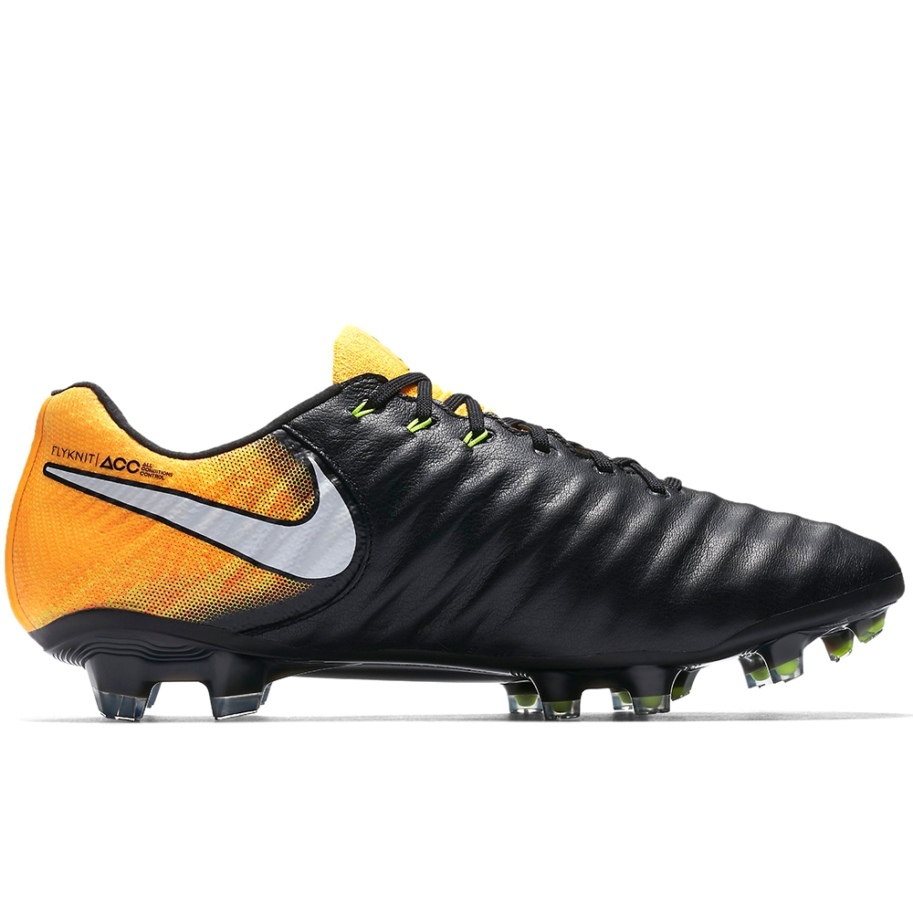 6165c06c31903 Nike Tiempo Legend VII FG Soccer Cleats (Black White Laser Orange ...