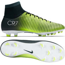 Nike Mercurial Victory VI CR7 DF FG Soccer Cleats (Seaweed/Volt/Hasta/White)