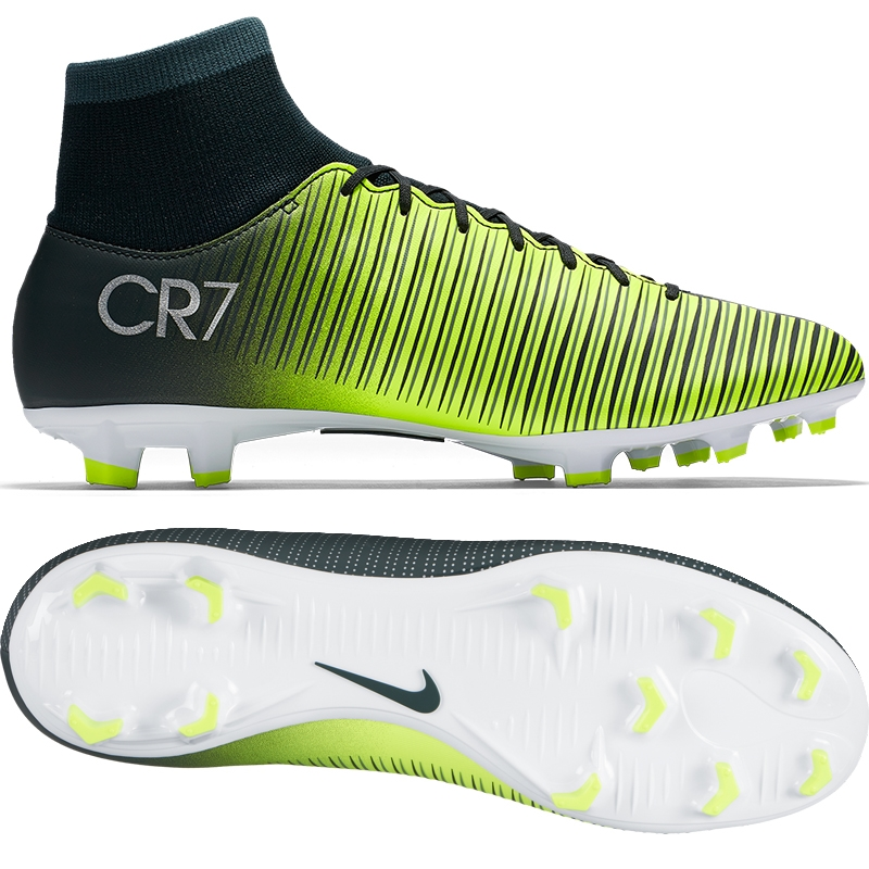 wholesale dealer 5cca9 497f5 Nike Mercurial Victory VI CR7 DF FG Soccer Cleats (Seaweed/Volt/Hasta/White)