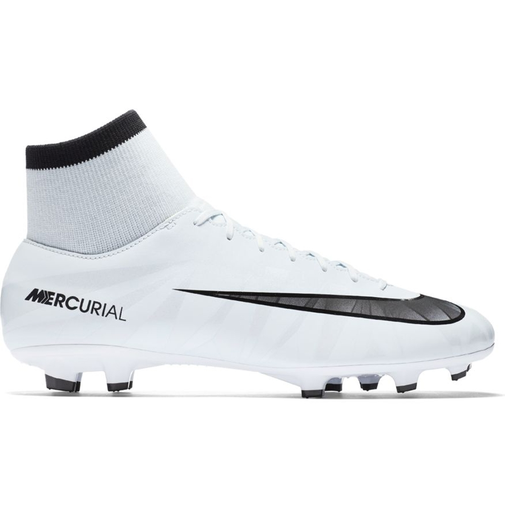 huge selection of 90571 4c614 Nike Mercurial Victory VI CR7 DF FG Soccer Cleats (Blue Tint/Black/White)
