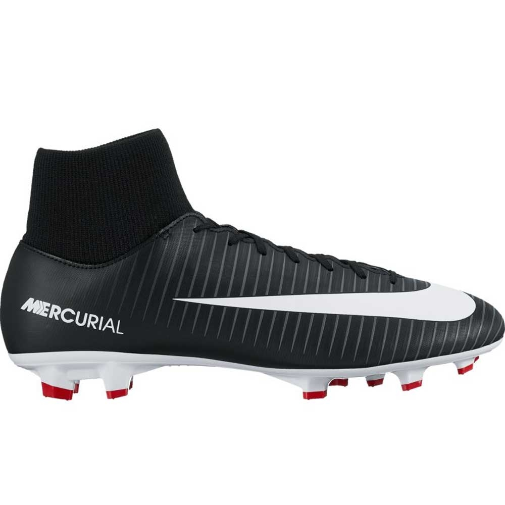 Nike Mercurial Victory VI DF FG Soccer Cleats Black White Dark Grey
