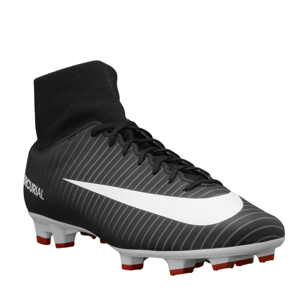 52a6fb3db2e21 Nike Mercurial Victory VI DF FG Soccer Cleats (Black/White/Dark Grey ...