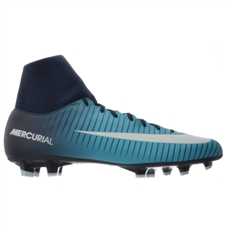 Nike Mercurial Victory VI DF FG Soccer Cleats (Obsidian/White/Gamma Blue)