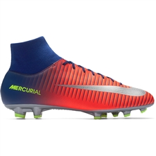 Nike Mercurial Victory VI DF FG Soccer Cleats (Deep Royal Blue/Chrome/Total Crimson)