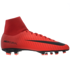 Nike Mercurial Victory VI DF FG Soccer Cleats (University Red/Black/Bright Crimson)