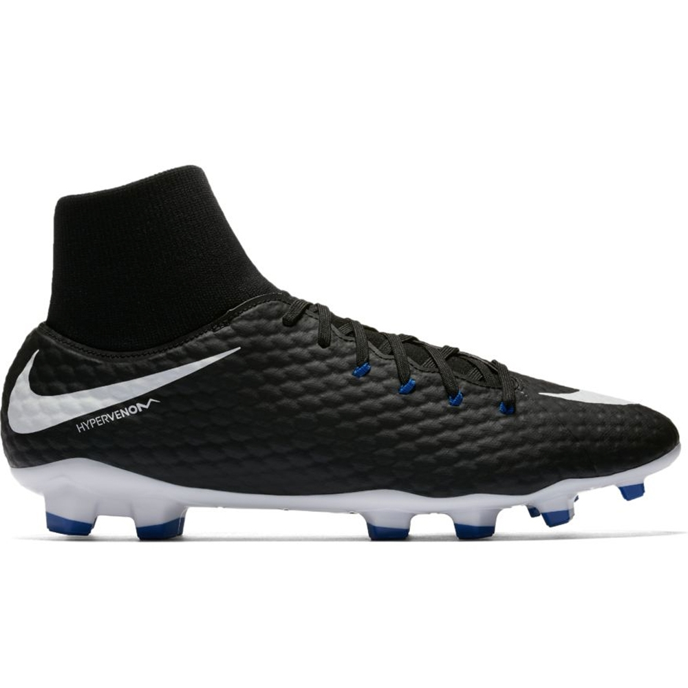 newest c7d4f d3e55 Nike Hypervenom Phelon III DF FG Soccer Cleats (Black/White)