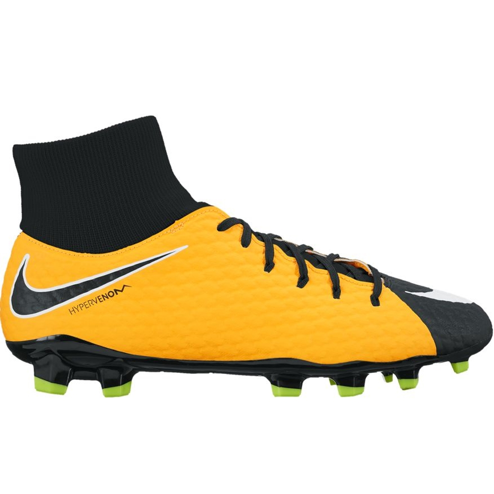 new product 3b60e 95b91 Nike Hypervenom Phelon III DF FG Soccer Cleats (Laser  Orange/White/Black/Volt)