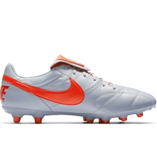 Nike Premier II FG Soccer Cleats (Wolf Grey/Light Crimson)