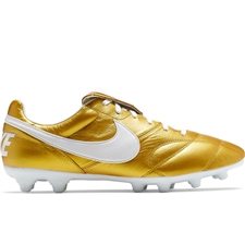 Nike Premier II FG Soccer Cleats (Metallic Vivid Gold/White)