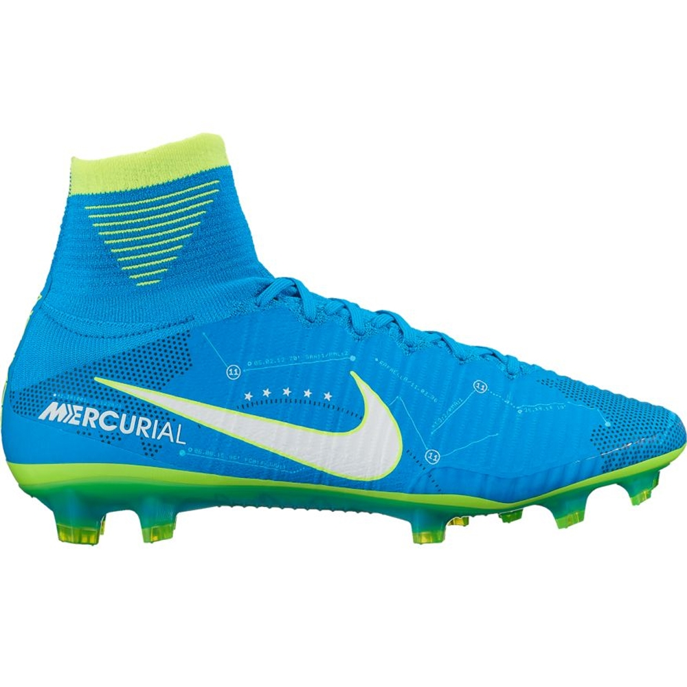 Nike Mercurial SuperFly V FG Neymar Soccer Cleats (Blue Orbit White ... b9566acda