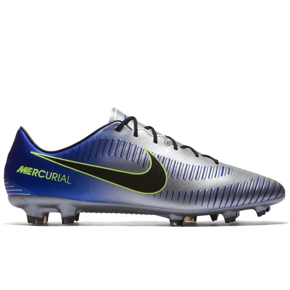 Nike Neymar Mercurial Veloce III FG Soccer Cleats (Racer Blue/Black/Chrome/