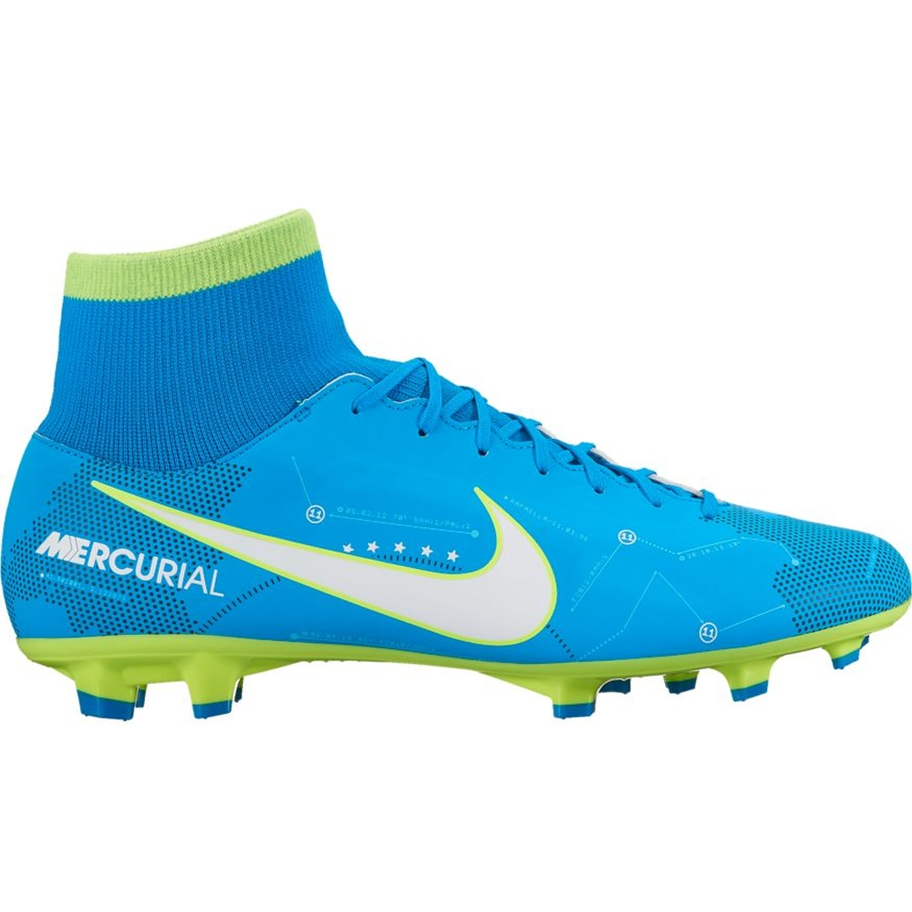 separation shoes d16bd eb728 Nike Neymar Mercurial Victory VI DF FG Soccer Cleats (Blue  Orbit/White/Armory Navy)