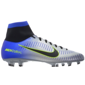 Nike Neymar Mercurial Victory VI DF FG Soccer Cleats (Racer Blue/Black/Chrome/Volt)